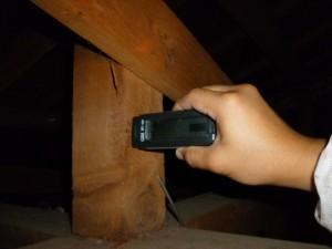 木材の含水率調査 木材は水分量が低い方が丈夫だと言われています。